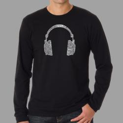 Los Angeles Pop Art Men's Headphones Long-Sleeve T-Shirt