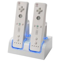 INSTEN Dual Remote/ Battery Charging Station/ 4 Batteries for Nintendo Wii