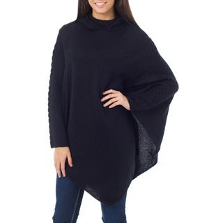 Handmade Hand Blended Alpaca Wool Eternal Magic Hooded Poncho (Peru)