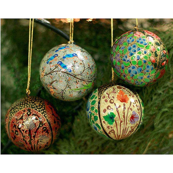 Shop Handmade Set Of 4 'Joyful Melody' Holiday Ornaments