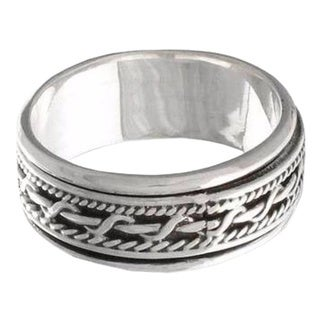 Handmade Sterling Silver 'Knots' Band Ring (Indonesia)