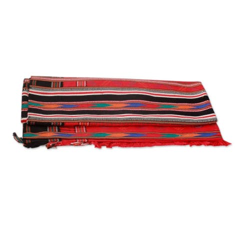 Handmade Festive India Multi Red Color Cotton Throw (India)