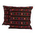 Handmade Set of Two Cotton 'Desert Night' Cushion Covers (India)