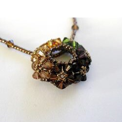 'Circle of Joy' Autumn Crystal Necklace (USA)