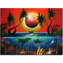 Conrad 'Dolphins at Sunset' Canvas Art