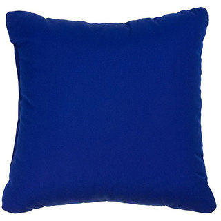 Blue 18-inch Knife-edged Indoor/ Outdoor Pillows with Sunbrella Fabric (Set of 2)