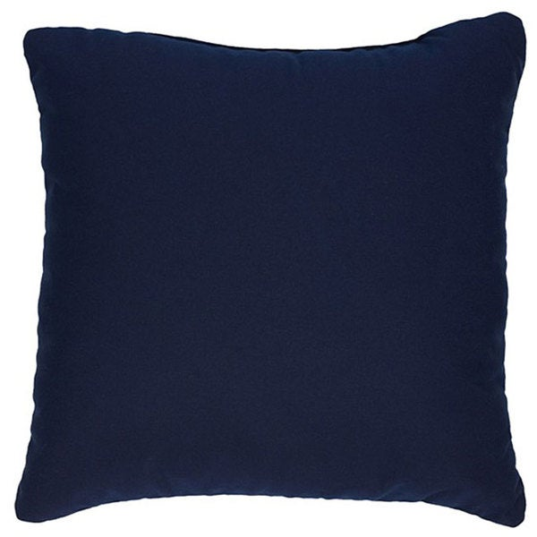 Navy 18-inch Knife-edged Indoor/ Outdoor Pillows with Sunbrella Fabric (Set of 2)