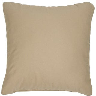 Antique Beige 18-inch Knife-edged Outdoor Pillows with Sunbrella Fabric (Set of 2)