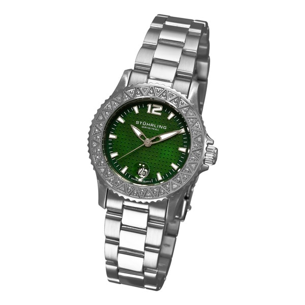 Stuhrling Original Women's Regatta Madam Diamond Swiss Quartz Watch