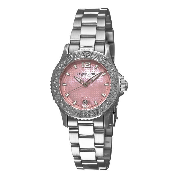 Stuhrling Original Women's Regatta Madam Pink Diamond Swiss Quartz Watch