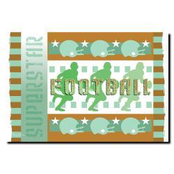 Grace Riley 'Football' Canvas Art