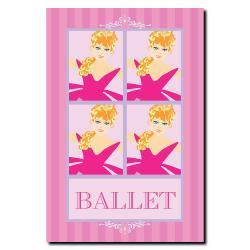 Grace Riley 'Ballet in Pink II' Canvas Art