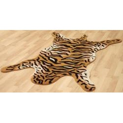 Hand-tufted Tiger Wool Rug (4' x 6')