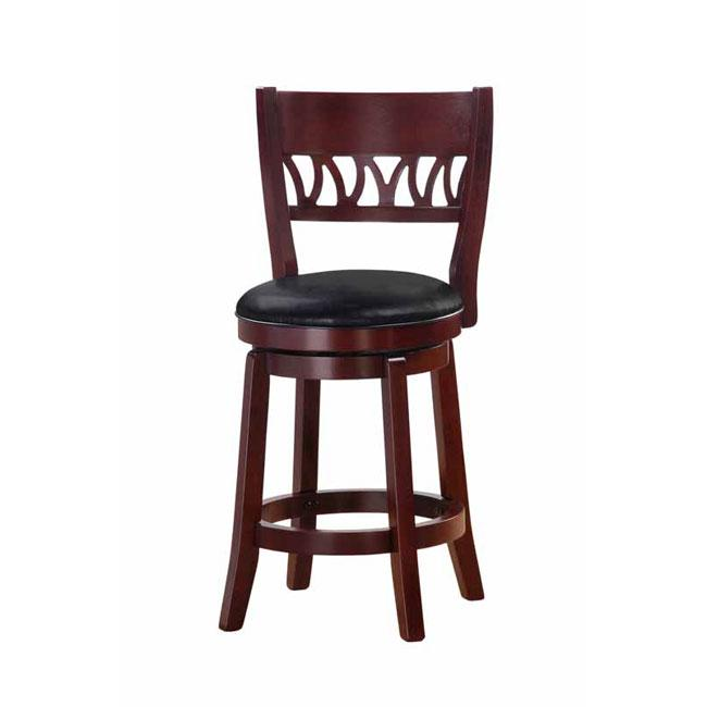 Shop Courtney Cherry Finish 24 Inch Swivel Counter Stool