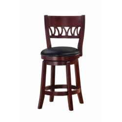 Courtney Cherry Finish 24-inch Swivel Counter Stool
