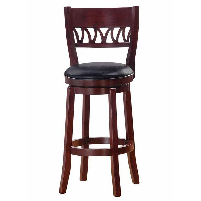 Courtney Cherry Finish 30 Inch Swivel Bar Stool Free