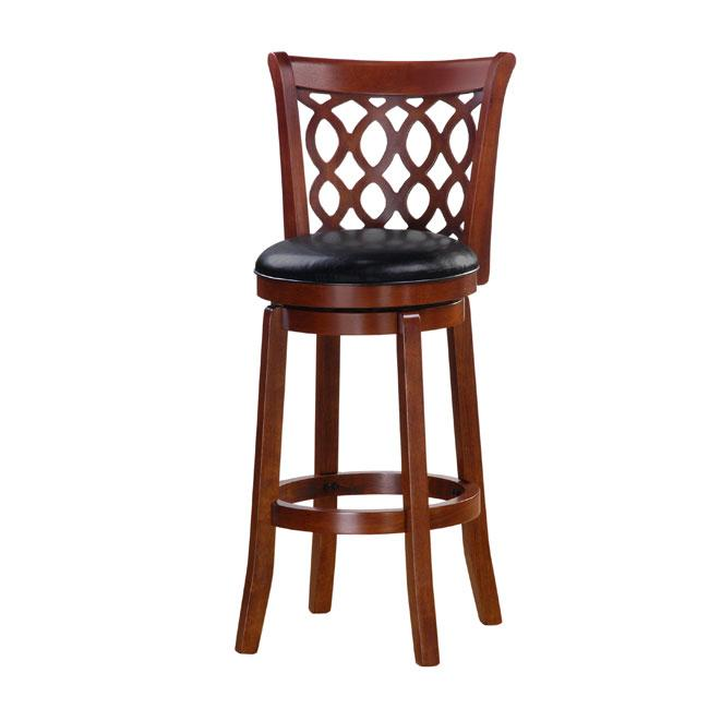 Shop Allison Cherry Finish 30 Inch Swivel Bar Stool Free