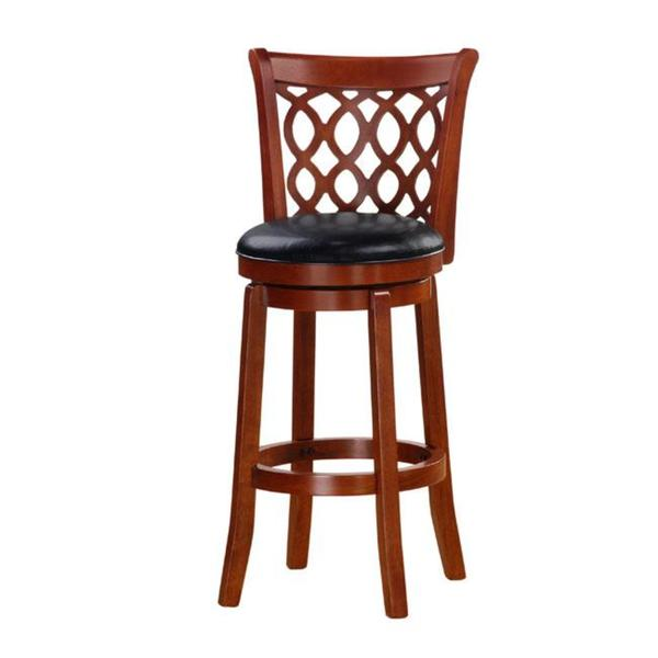 Shop Allison Oak Finish 30 Inch Swivel Barstool Free Shipping