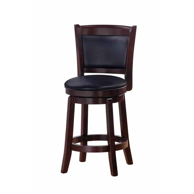 Chandler espresso finish 24 inch swivel counter stool for 24 inch bar stools