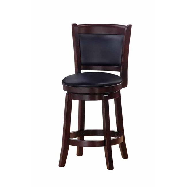 Chandler Espresso Finish 24 Inch Swivel Counter Stool