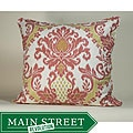 IKAT White/ Red Decorative Pillow