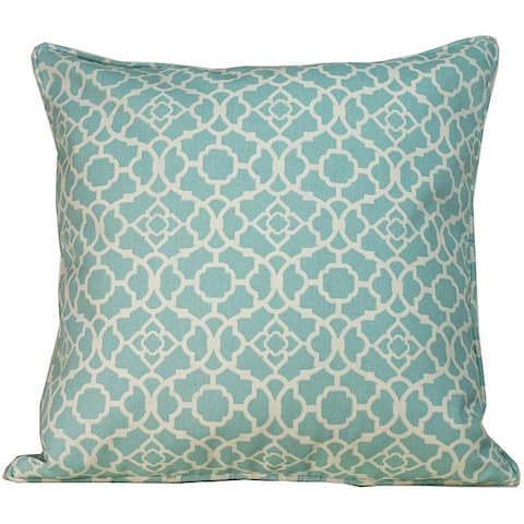 Handmade 20 x 20-inch Blue Moroccan Outdoor Decorative Pillow (United States)