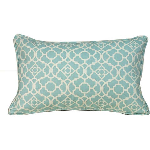 Handmade 12 x 20-inch Blue Moroccan Outdoor Decorative Pillow (United States)