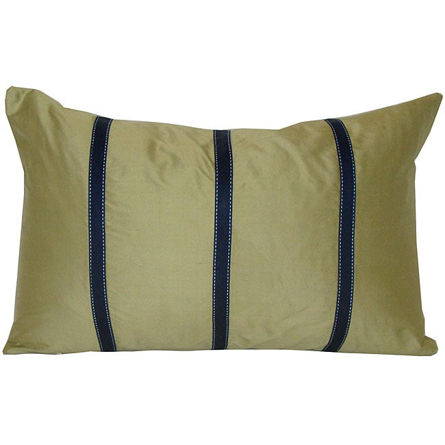 Shop Silk Sage Green Decorative Pillow Free Shipping Today Delectable Sage Green Decorative Pillows