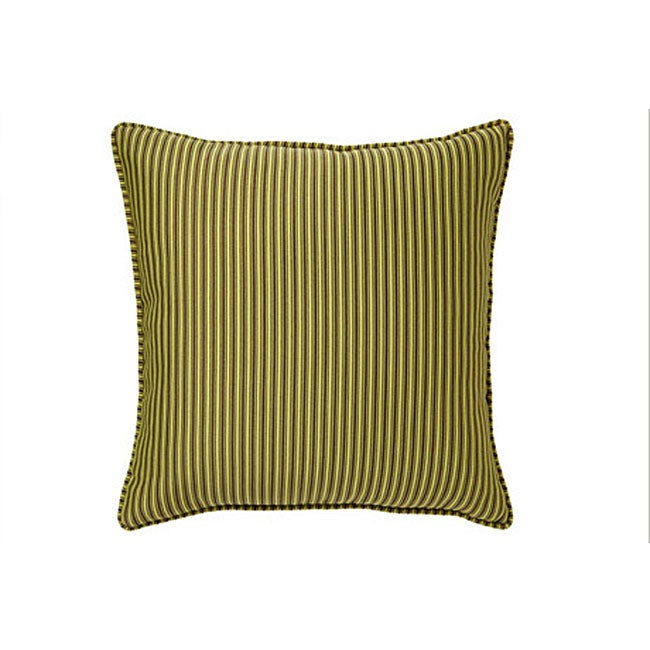 Thin Lines Citrine Decorative Pillow
