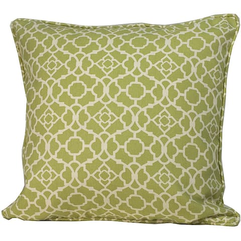 Handmade 20 x 20-inch Green Moroccan Outdoor Decorative Pillow (United States)
