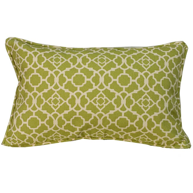 12 x 20-inch Green Moroccan Outdoor Decorative Pillow