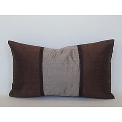 Pieces Brown Silk Decorative Pillow