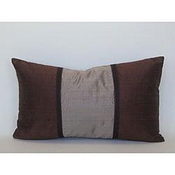 Pieces Brown Silk Decorative Pillow - Thumbnail 0