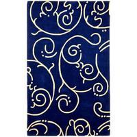 Hand-tufted Blue Archer Wool Rug (5' x 8') - 5' x 8'