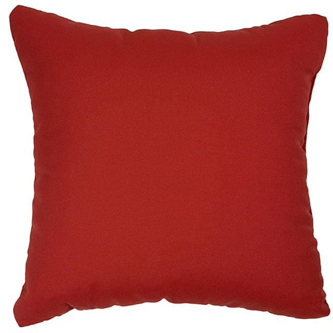 Jockey Red 20-inch Knife-edged Outdoor Pillows with Sunbrella Fabric (Set of 2)