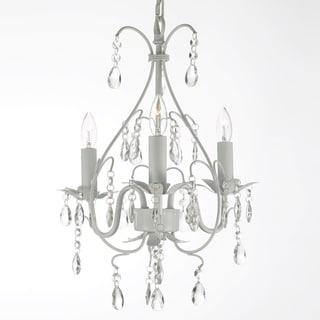 Gallery Versailles 3-light White Crystal Mini Chandelier