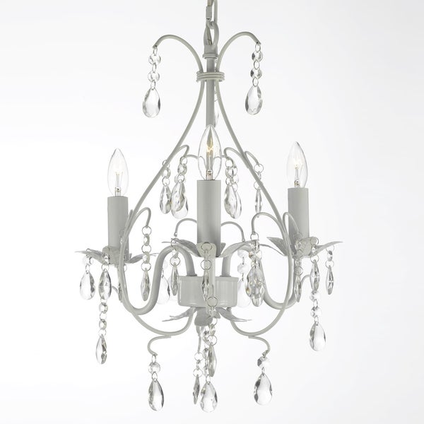 Gallery Versailles 3-light White Crystal Mini Chandelier