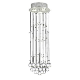 Gallery Indoor 3-light Chrome/ Crystal Ball Chandelier