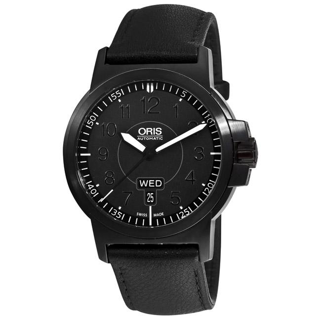 Oris Men's 73576414764LS 'BC3 Advanced Day Date' Black Strap Automatic Watch