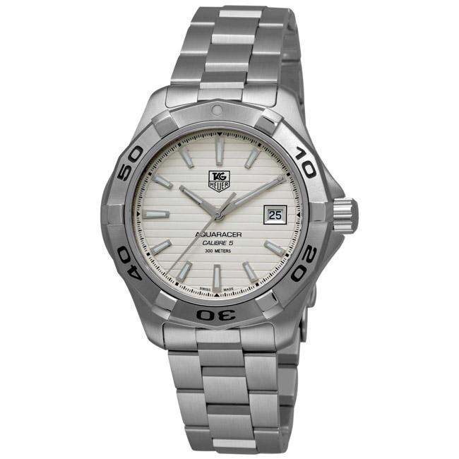 Tag Heuer Men's WAP2011.BA0830 'Aquaracer Calibre 5' Stainless Steel Automatic Watch