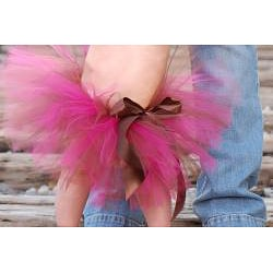 Adorable Brown and Hot Pink Tutu - Thumbnail 2