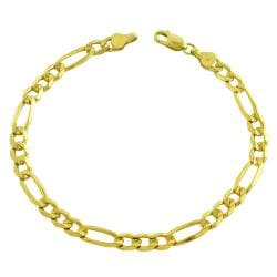 Fremada 14k Yellow Gold 8.5-inch Figaro Bracelet