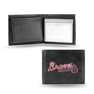 Atlanta Braves Men's Black Leather Bi-fold Wallet