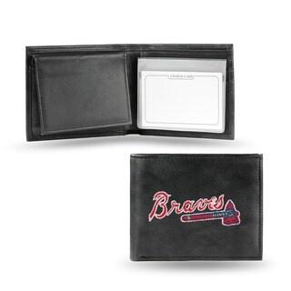 Atlanta Braves Men's Black Leather Bi-fold Wallet