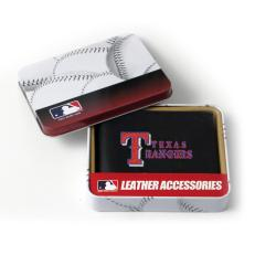 Texas Rangers Men's Black Leather Bi-fold Wallet