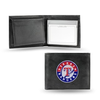 Texas Rangers Men's Black Leather Bi-fold Wallet
