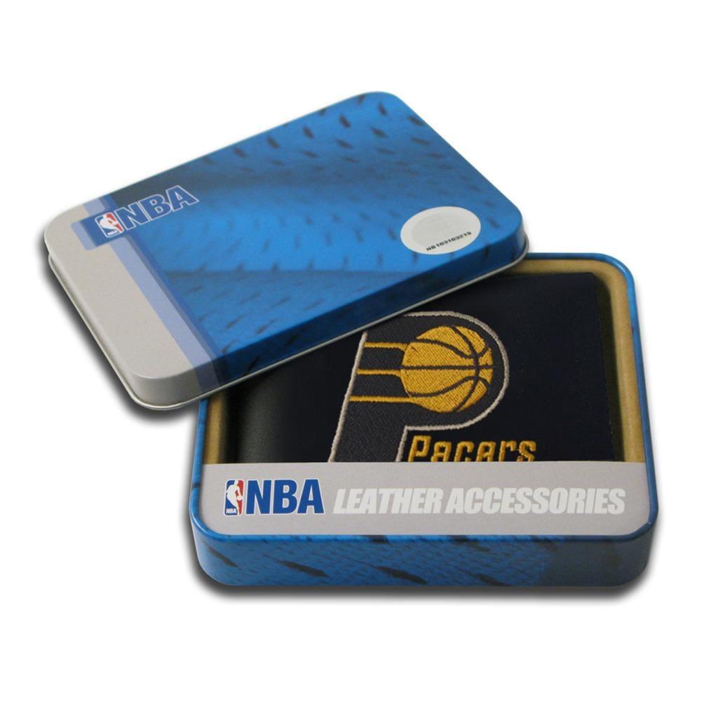 Indiana Pacers Men's Black Leather Bi-fold Wallet