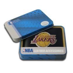 Los Angeles Lakers Men's Black Leather Bi-fold Wallet - Thumbnail 1
