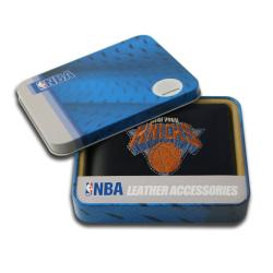 New York Knicks Men's Black Leather Bi-fold Wallet