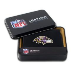 Baltimore Ravens Men's Black Leather Bi-fold Wallet - Thumbnail 0